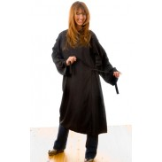 hair Salon Kimono for client cape with sleeves Black
