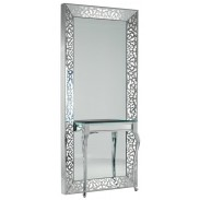 la Scala mirror styling unit with light and table, louise styling unit